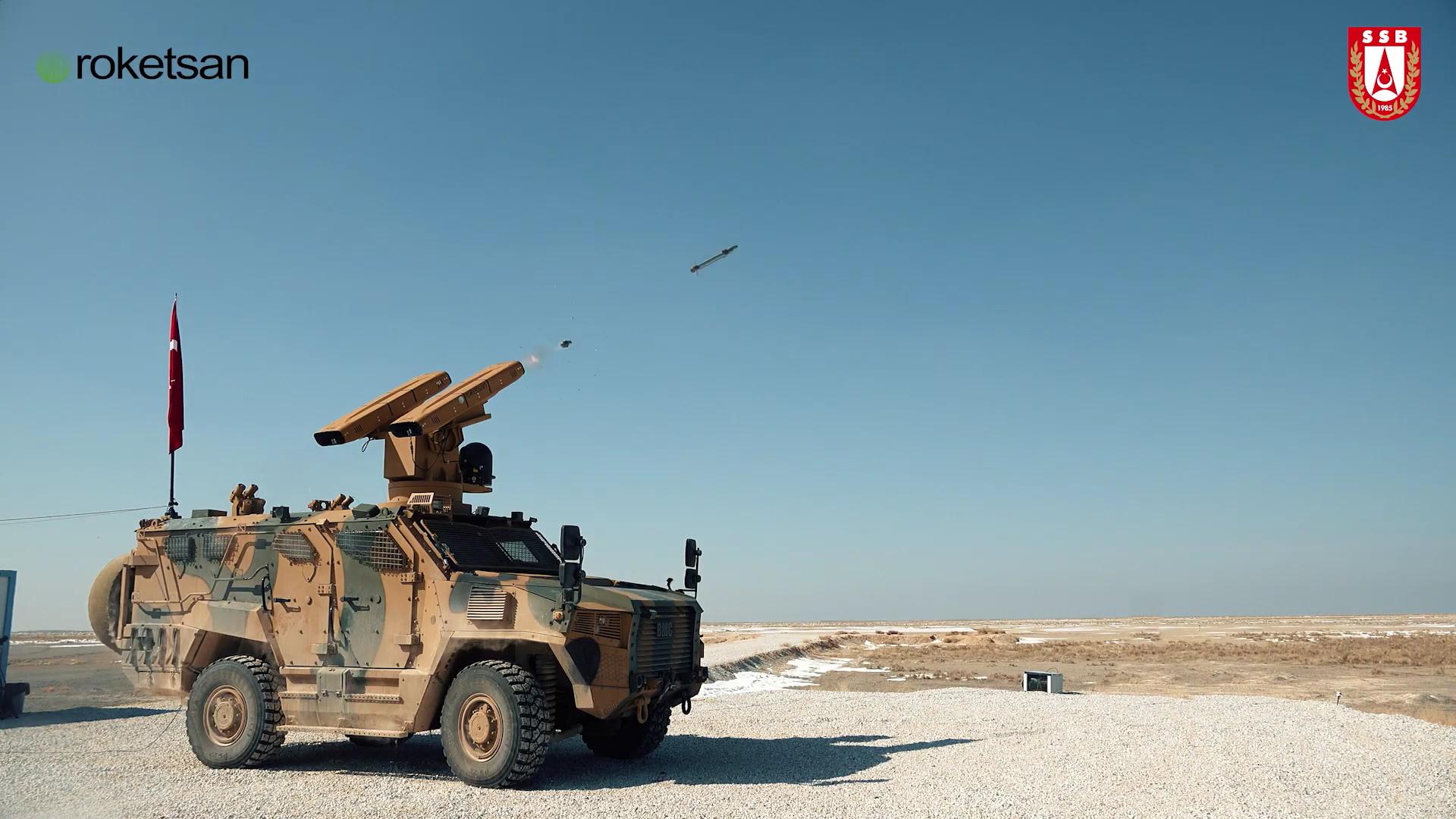 SUNGUR Alçak İrtifa Hava Savunma Sistemi Hedefini Başarıyla Vurdu