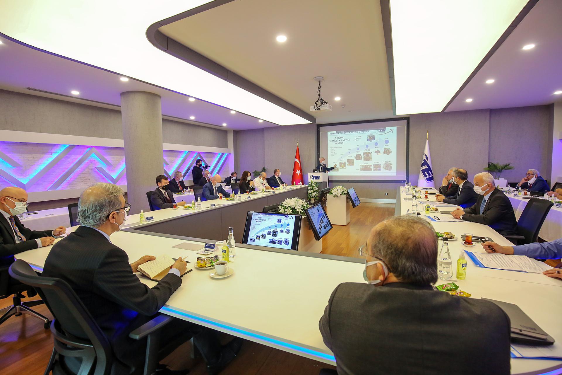 President of Defense Industries İsmail Demir Visits TEI