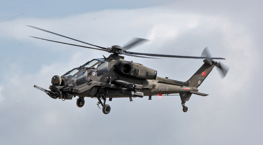 TUSAŞ Delivered first T129B2 ATAK Helicopter to Turkish National Police