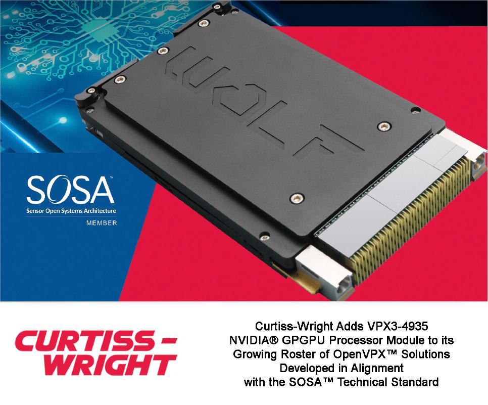 Curtiss-Wright Adds NVIDIA GPGPU Processor Module to OpenVPX