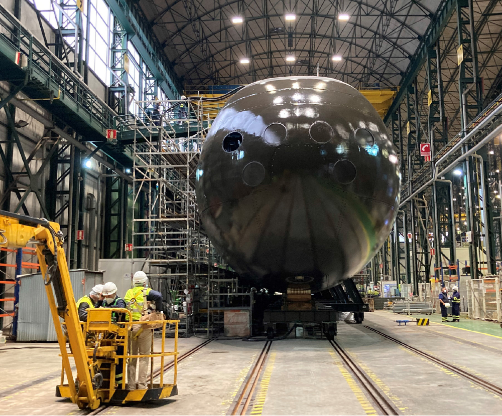The First S80 Class Submarine for the Spanish Navy Launched
