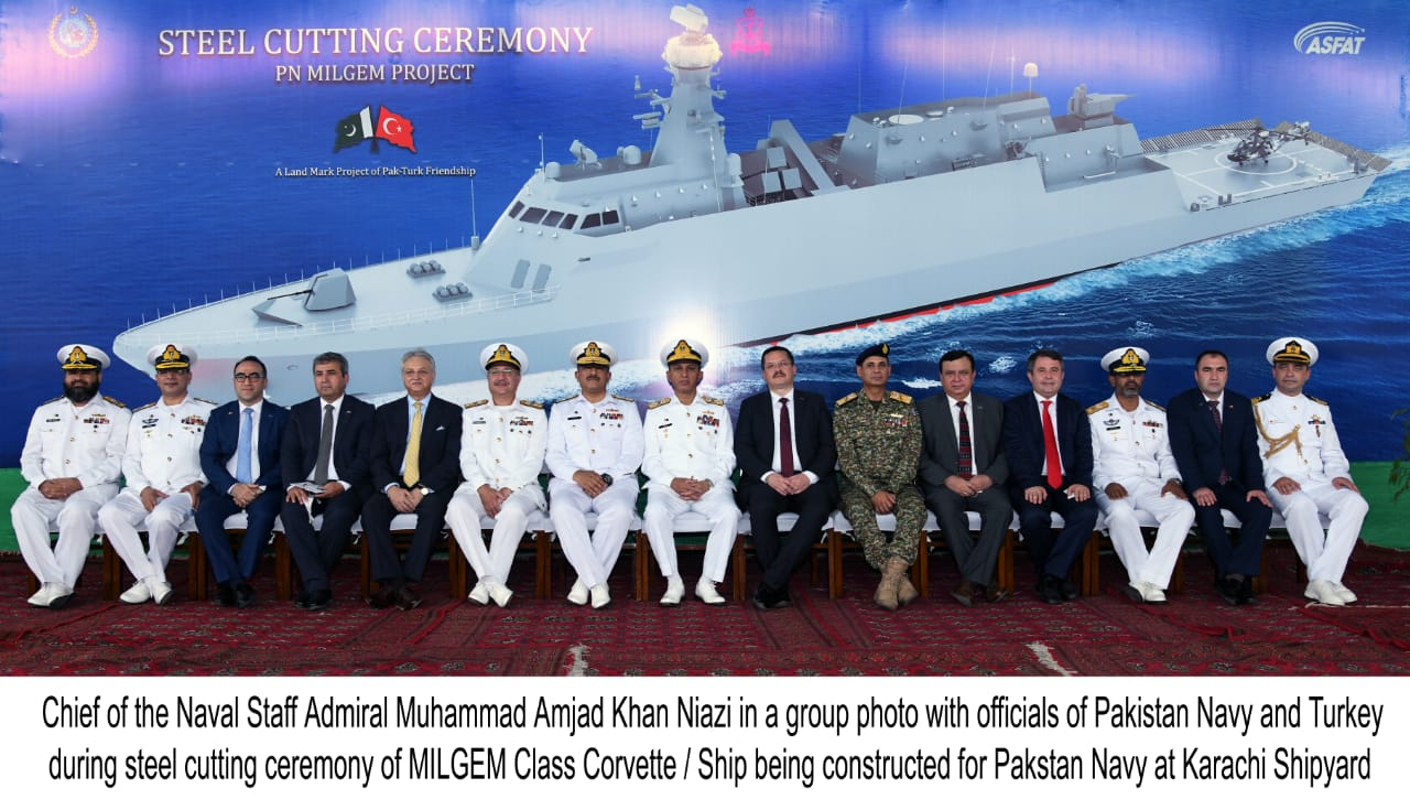 Albatros NG MLS is Depicted for the First Time During the Steel Cutting Ceremony of 4th PN MILGEM in Karachi